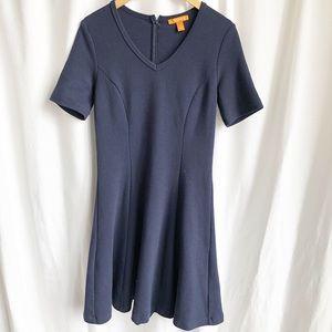 Joe Fresh navy blue short sleeve v-neck dress